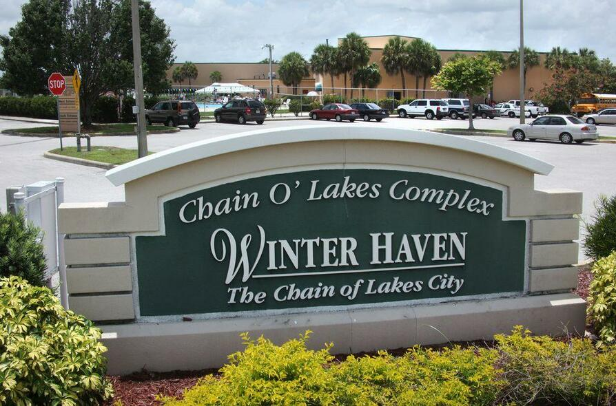 Winter Haven - The Chain of Lakes City welcome sign