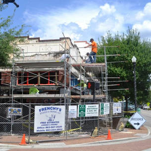 Downtown Winter Haven's Central Tavern under construction